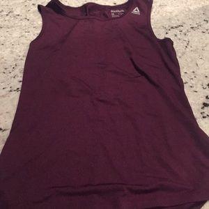 Reebok Plum Sleeveless Shirt with Mesh Cutout